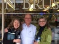 Maggie, David, and Leigh Ann at Book N Brush in Chehalis, WA