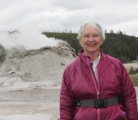 Author Janet Chapple at Castle Geyser