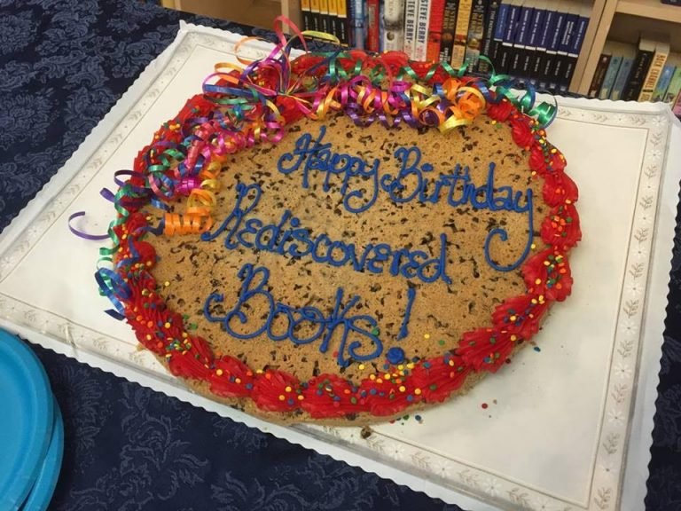 GIANT Happy birthday cookie for Rediscovered Books