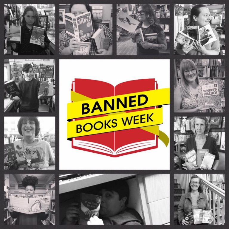 Auntie's Staff with banned or challenged books