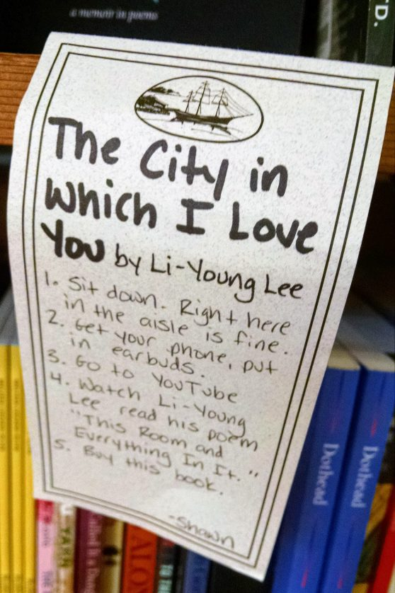 The City in Which I Love You shelftalker by Shawn