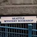 Seattle Mystery Bookshop sign from 2015